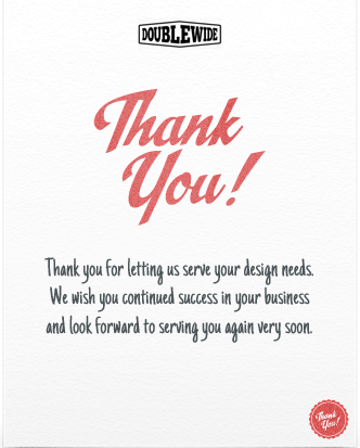 landing page say thank you