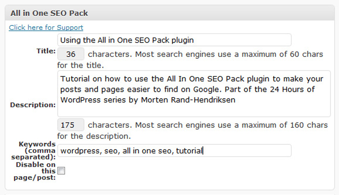 All-in-one-Seo pack