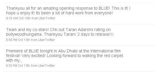 Indian Cinema Using Twitter Lara Dutta