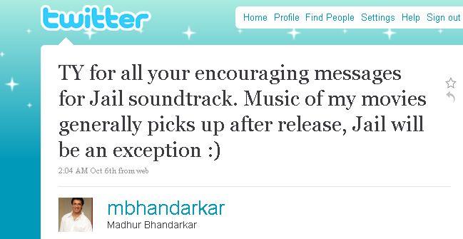 Indian Cinema Using Twitter Madhur Bhandarkar