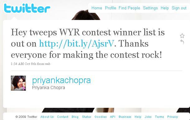 Indian Cinema Using Twitter priyanka chopra