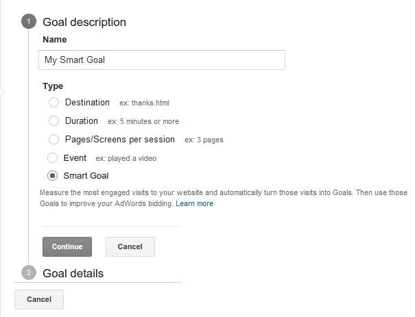 Smart Goal in Google Analytics