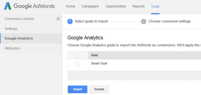 Smart Goals in AdWords