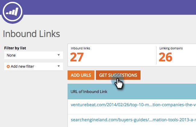 Inbound Link Get Suggestion