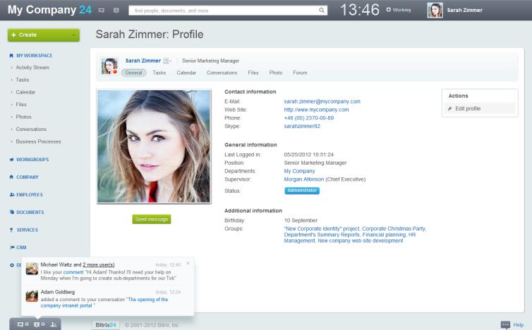 rich user profile
