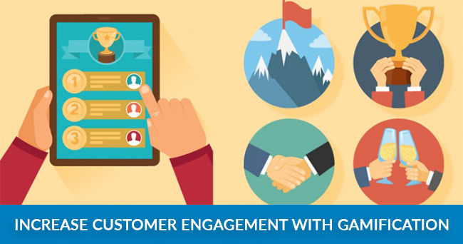 Customer engagement with gamification