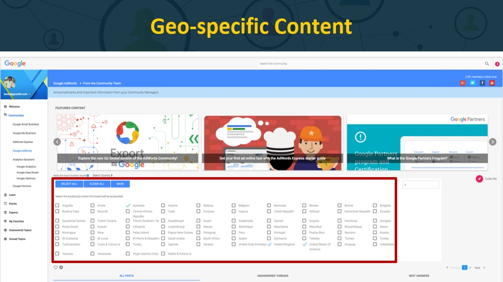 Geo-Specific Content