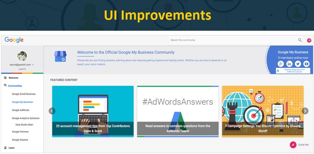 UI Improvements