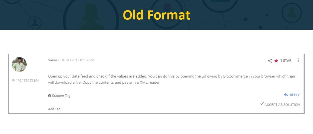 Old Format