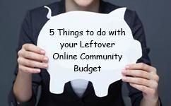 Leftover Online Community Budget