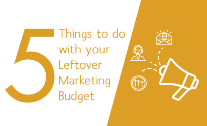 Leftover marketing budget