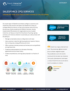 Salesforce<sup>®</sup> CPQ Services