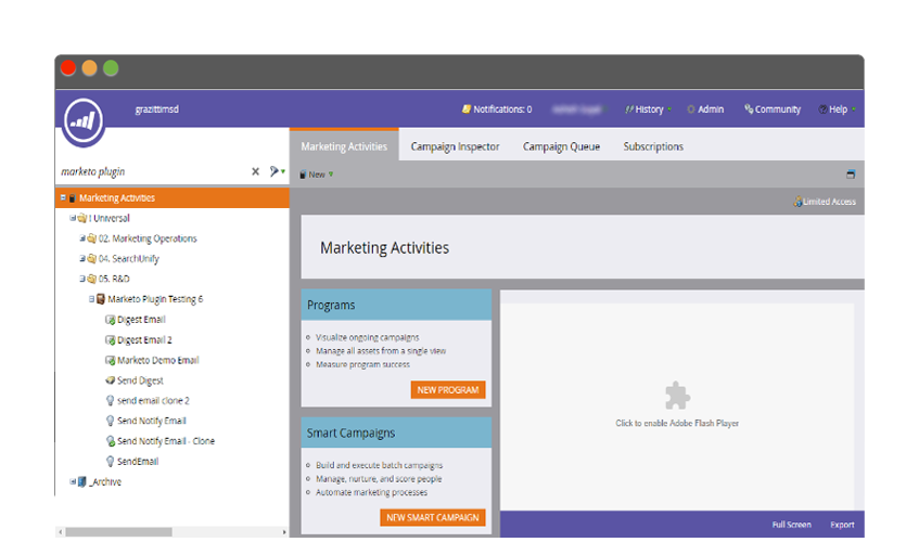 Set up programs and campaigns in Marketo