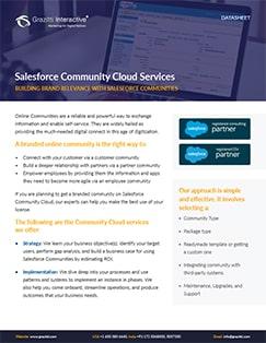 Salesforce Community Cloud<sup>®</sup> Services