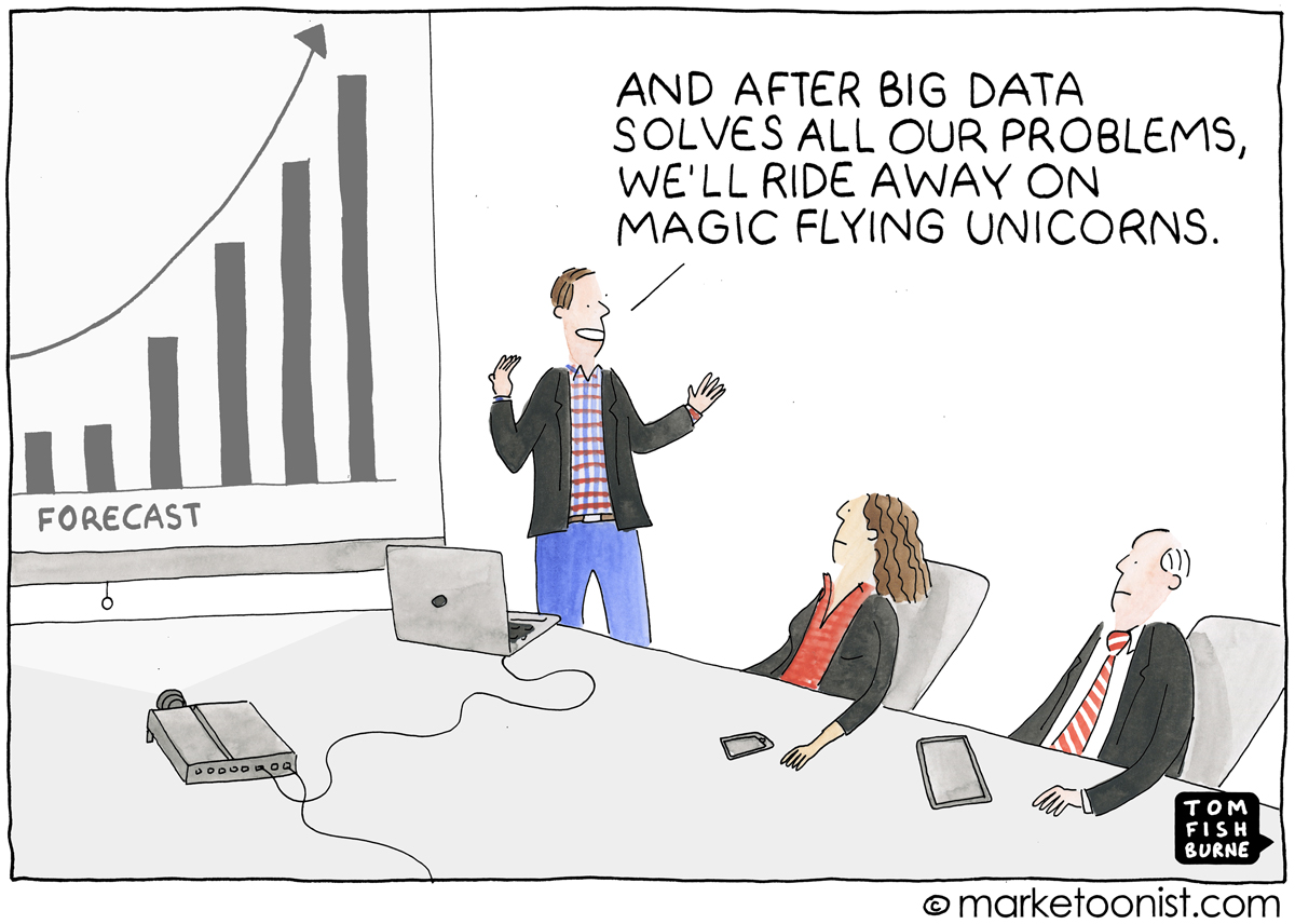 Analytics cartoon