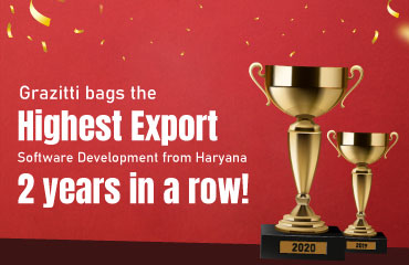 Grazitti Interactive Awarded the 'Highest Export – Software Development from Haryana' by STPI Yet Again
