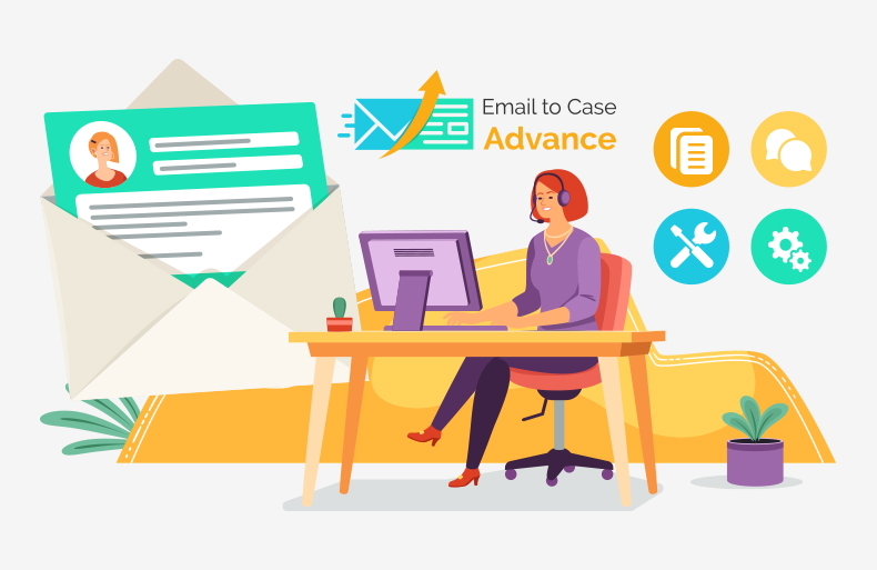 How Email to Case Advance Facilitates Managing High Case Volume for Support Reps