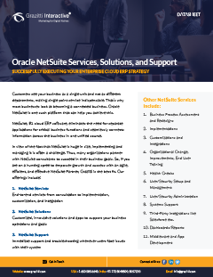 NetSuite Services, Solutions, and Support