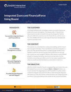 Integrated Zuora and FinancialForce Using Boomi