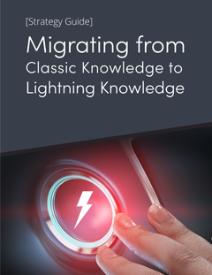 Migrating from Classic Knowledge to Lightning Knowledge