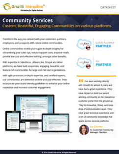 Quick Start Communities Datasheet