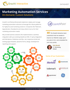Marketing Automation Datesheet