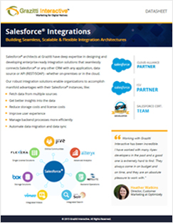 Salesforce Integrations Datasheet