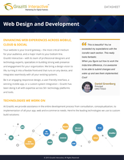 Web Dev & Design Datasheet