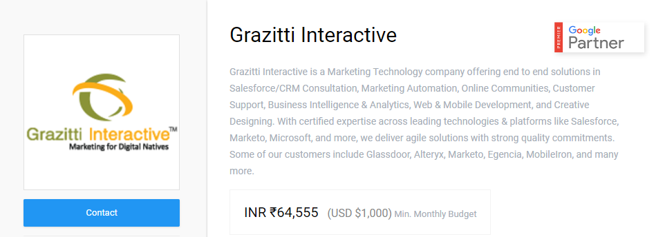Grazitti Premier Screenshot