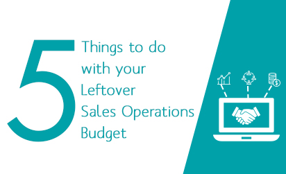 5 Things to Do with your Leftover Sales Operations Budget